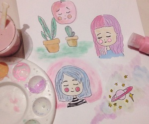 art, drawing, and pastel image