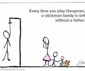 hangman, funny, and family image