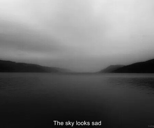 sad, sky, and grunge image