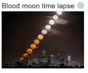 moon, sky, and blood image