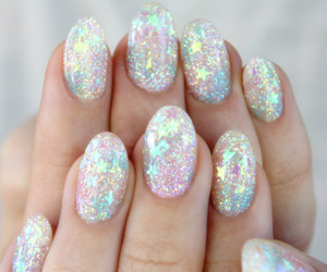 nails, glitter, and stars image