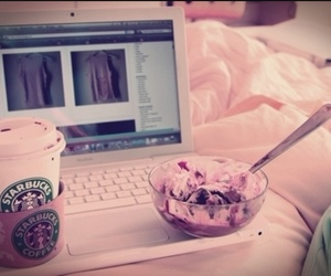 starbucks, ice cream, and pink image