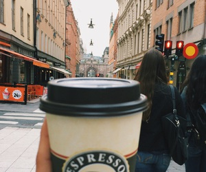 autumn, city, and coffe image