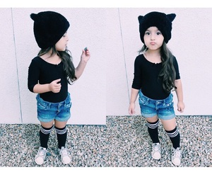 baby, black, and fashion image