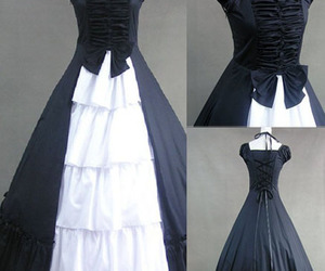 black dress, evening dress, and fashion image
