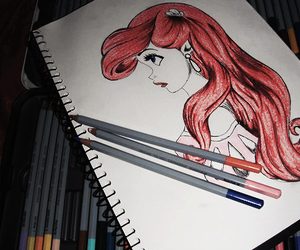 ariel, drawing, and disney image