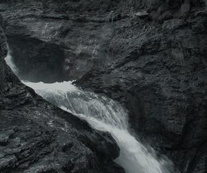 nature, dark, and rocks image