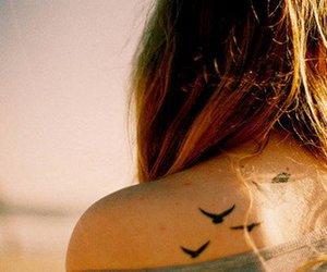 tattoo, bird, and tatoo image