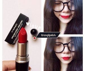 lips, mac, and red image