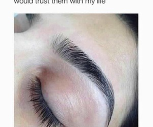 eyebrows and trust image