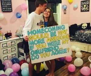 couple, homecoming, and kiss image