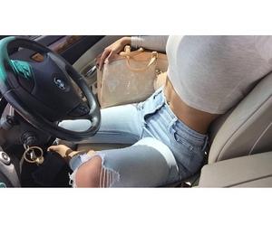 fashion, car, and girl image