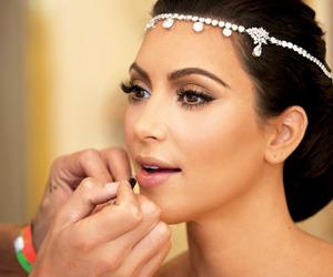 kim kardashian, makeup, and wedding image