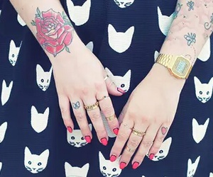 cats, rings, and Tattoos image