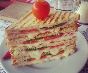 cheese, delicious, and ham image