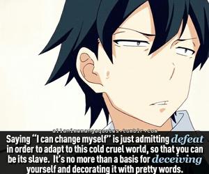quotes, tumblr, and oregairu image