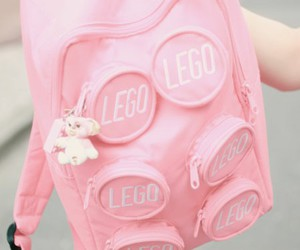 pink, lego, and backpack image