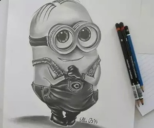 drawing, minions, and art image