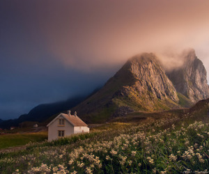 norway, landscape, and house image