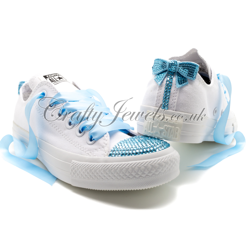 Blue Swarovski Crystal Converse. http   www.craftyjewels.co.uk ... 50395688d