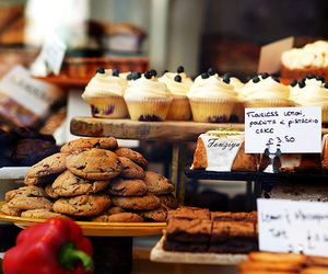 food, cupcake, and Cookies image
