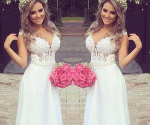 beautiful, wedding dress, and details image