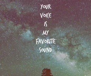 love, sound, and voice image