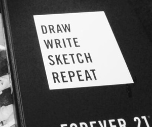 draw, forever 21, and notebook image