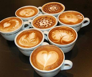 coffee, art, and food image
