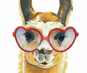 llama, glasses, and heart image
