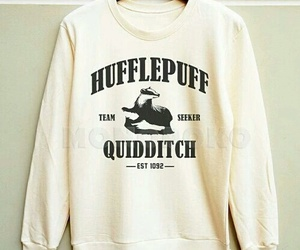 harry potter, hufflepuff, and quidditch image