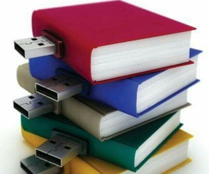 book, High Tech, and pen drive image