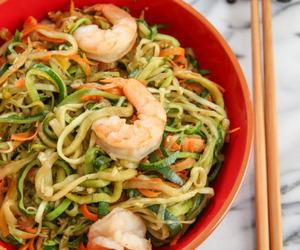 pasta, savory, and seafood image