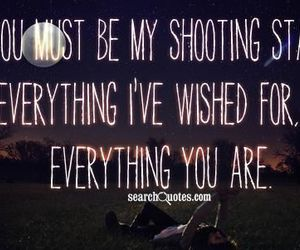 love, shooting star, and quote image