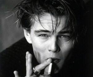 leonardo dicaprio, smoke, and boy image