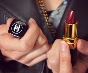 chanel, fashion, and lipstick image