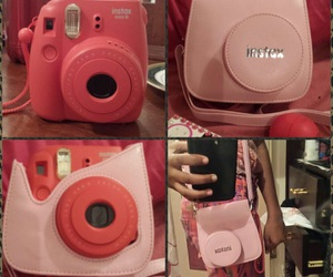 raspberry, pink cover, and instax mini 8 image