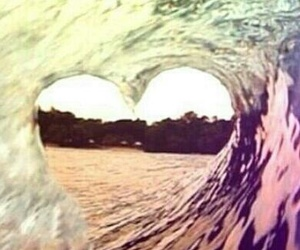 heart, waves, and water image