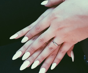 hand, matte, and nails image