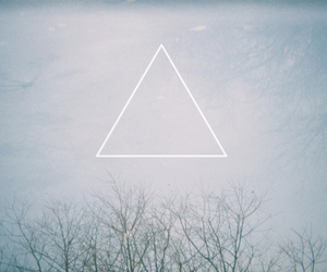 triangle, hipster, and tree image