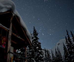 snow, stars, and winter image