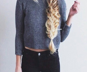fashion, hair, and braid image
