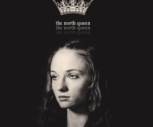 game of thrones, sansa stark, and the north queen image