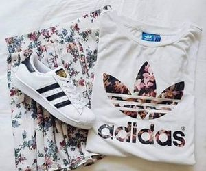 adidas, flowers, and outfit image