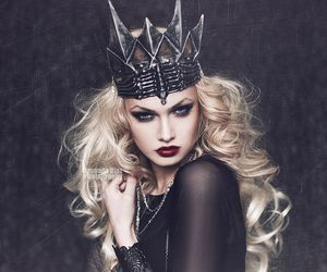 Queen, black, and dark image