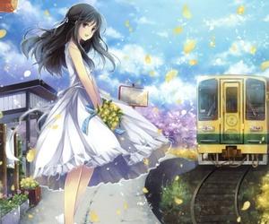 anime, manga, and train image