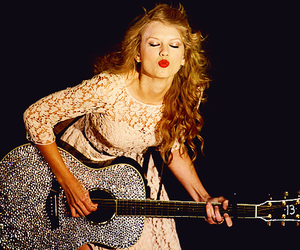 Taylor Swift, guitar, and kiss image