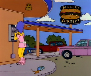 colors, fastfood, and marge simpson image