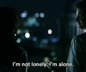 quote, alone, and lonely image