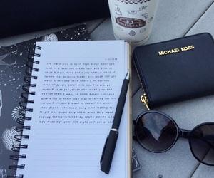 Michael Kors, coffee, and sunglasses image